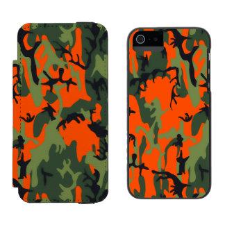 Safety Blaze Orange Green Camo Incipio Watson™ iPhone 5 Wallet Case