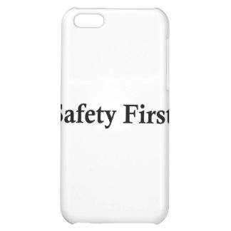 Safety First jpg Case For iPhone 5C