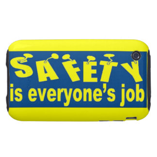 Safety is Everyone's Job iPhone 3G/3GS Tough Case