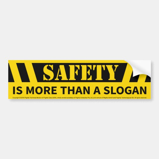 Safety Message Bumper Sticker