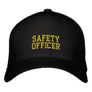 safety officer embroidered hat
