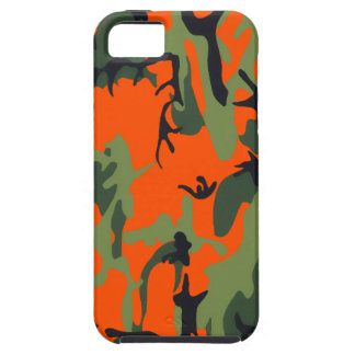 Safety Orange and Green Camo iPhone 5 Case