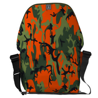 Safety Orange and Green Camo Commuter Bag