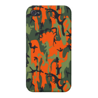 Safety Orange and Green Camo iPhone 4/4S Covers