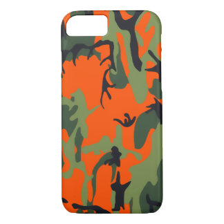 Safety Orange and Green Camo iPhone 8/7 Case