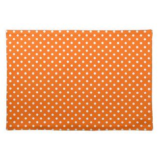 Safety Orange Polka Dot Pattern Placemat