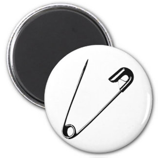 SAFETY PIN 6 CM ROUND MAGNET
