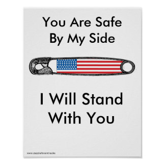 Safety Pin Movement for America Poster