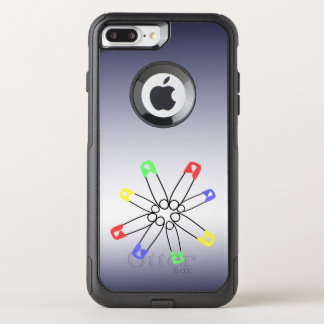 Safety Pin Yellow Blue Green Rainbow Solidarity OtterBox Commuter iPhone 8 Plus/7 Plus Case