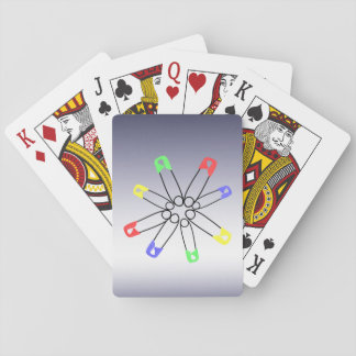 Safety Pin Yellow Blue Green Rainbow Solidarity Playing Cards
