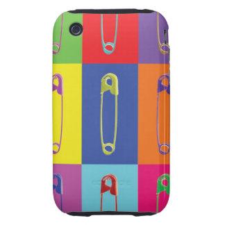 Safety Pins Pop Art Case iPhone 3 Tough Case