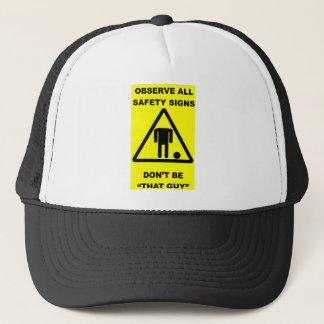 Safety Sign Warning Trucker Hat