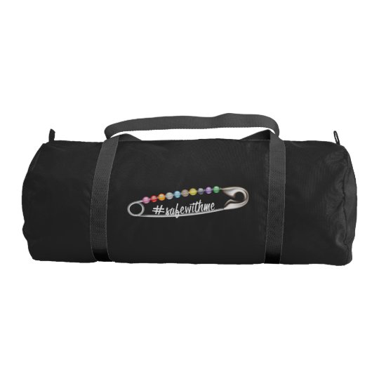 #SafeWithMe Dark Duffel Bag Gym Duffel Bag