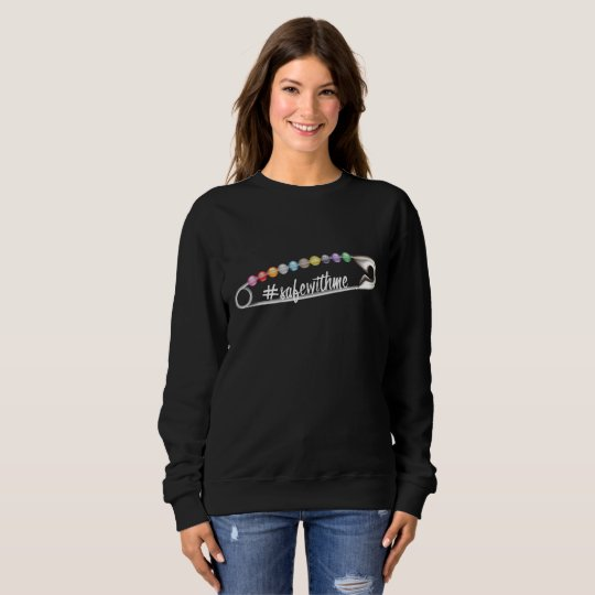 #SafeWithMe Dark Women's Basic Sweatshirt