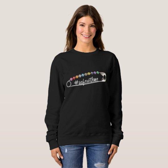 #SafeWithMe Dark Women's Basic Sweatshirt