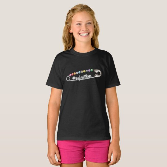 #SafeWithMe Girl's Dark T-Shirt