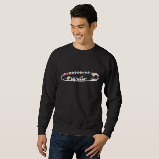 #SafeWithMe Men's Basic Dark Sweatshirt