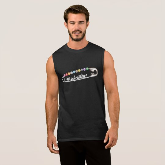 #SafeWithMe Men's Dark Muscle Tank
