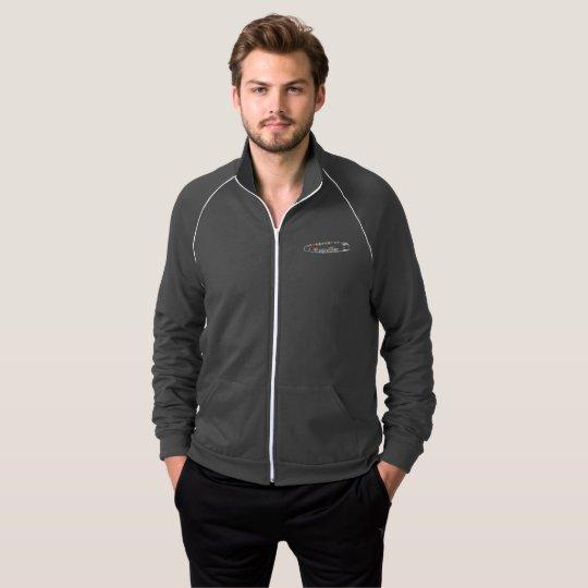 #SafeWithMe Men's Dark Zip Track Jacket