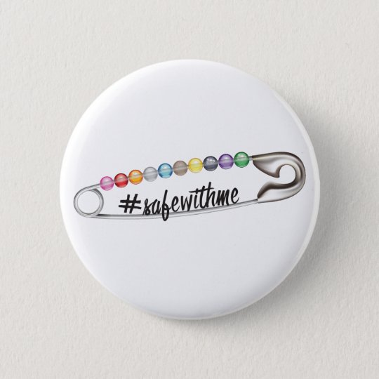 #SafeWithMe Round Button