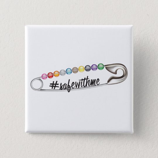 #SafeWithMe Square Button