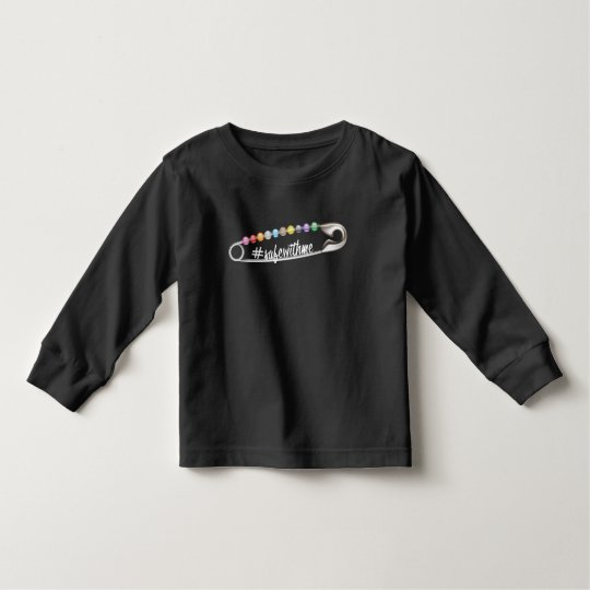 #SafeWithMe Toddler Dark Long Sleeve T-Shirt