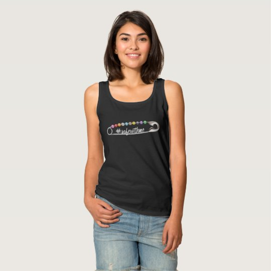 #SafeWithMe Women's Basic Dark Tank Top