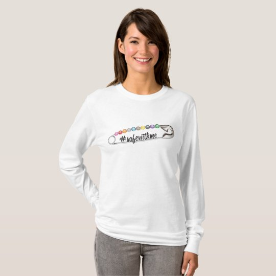 #SafeWithMe Women's Basic Long Sleeve T-Shirt