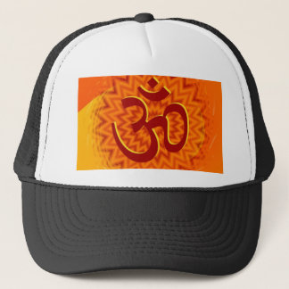 Saffrom Yellow Om Trucker Hat