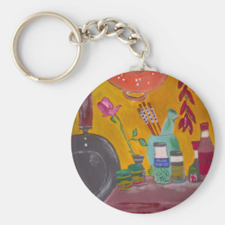Saffron And Chillies Key Ring