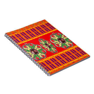 Saffron Red Holy Color Energy Healing Jewels India Spiral Notebook
