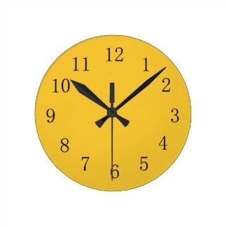 Saffron Yellow Kitchen Wall Clock