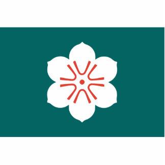 Saga Prefecture, Japan flag Standing Photo Sculpture