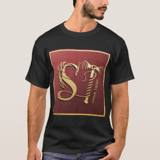 Saga Thing Dragon and Hammer Logo T-Shirt