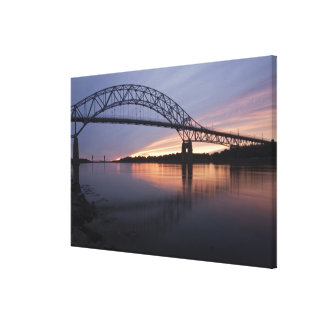 Sagamor Bridge over Cape Cod canal, Canvas Print