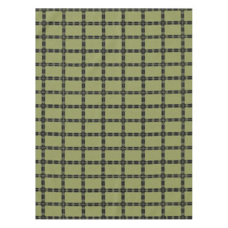 Sage and Black Geometric Tablecloth