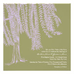 Sage and Lavender Willow Tree Wedding Invitation
