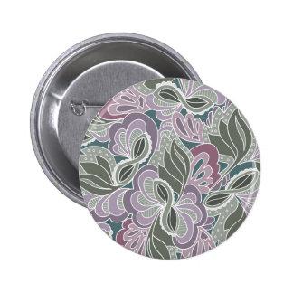 Sage Blush Garden Pattern 6 Cm Round Badge