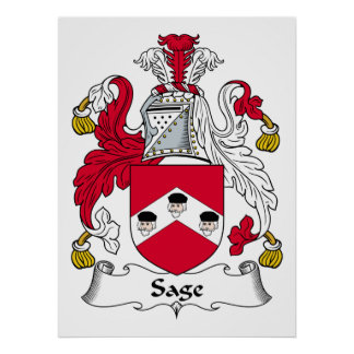 Sage Family Crest Posters