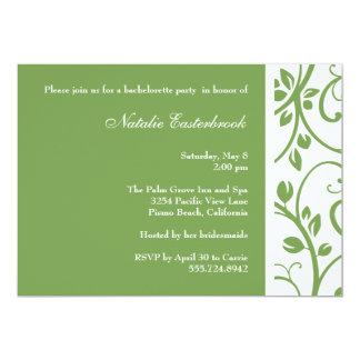 Sage Floral Vine Bachelorette Party Invitation