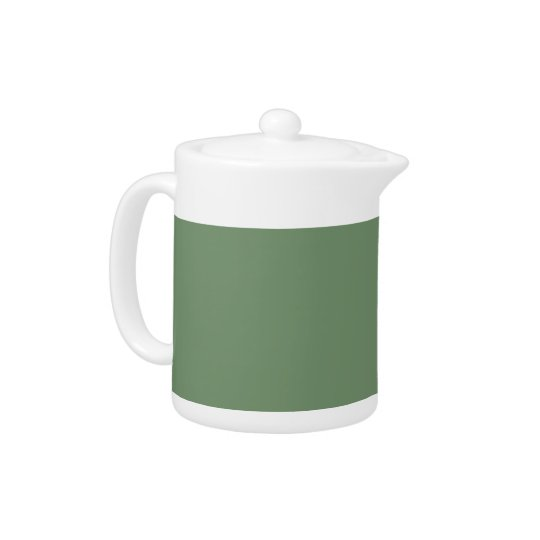 Sage Green Background on a Teapot