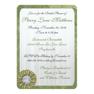 Sage Green Bridal Shower Invitations