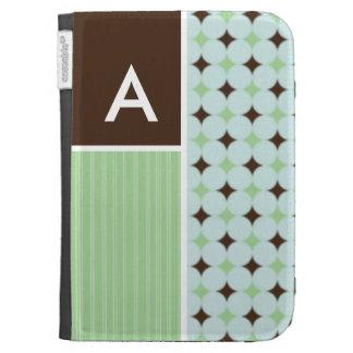 Sage Green Brown Kindle Case