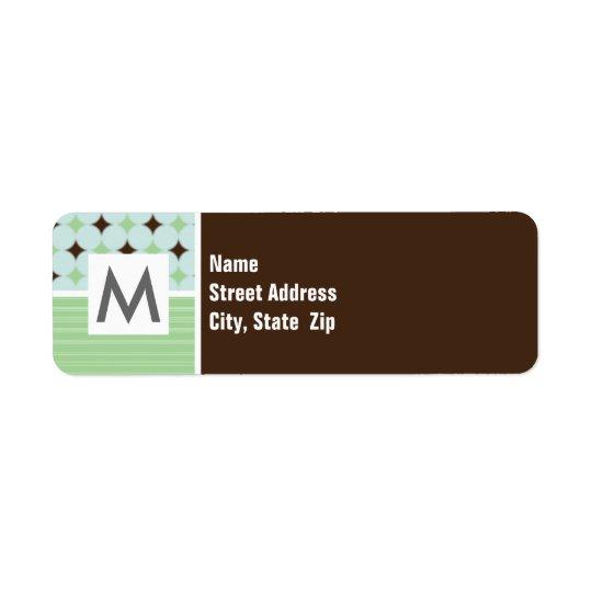 Sage Green & Brown Return Address Label