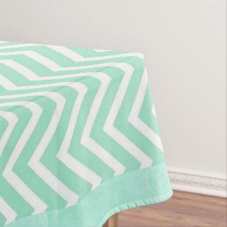 Sage Green Chevron Striped Tablecloths