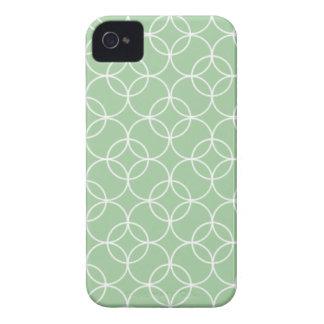 Sage Green Circle Pattern Case-Mate iPhone 4 Case