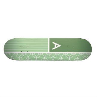 Sage Green Circles; Circle Skate Deck