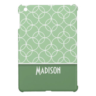 Sage Green Circles Cover For The iPad Mini