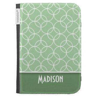 Sage Green Circles Kindle Covers