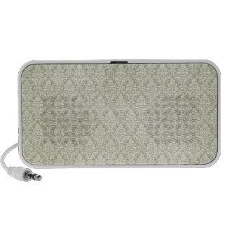 sage green damasks pattern background mp3 speaker